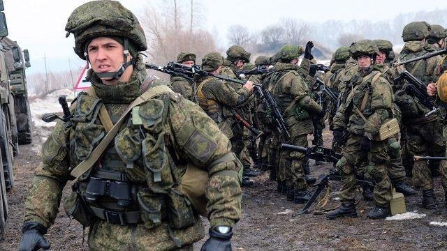 Российские десантники на учениях в Германии
