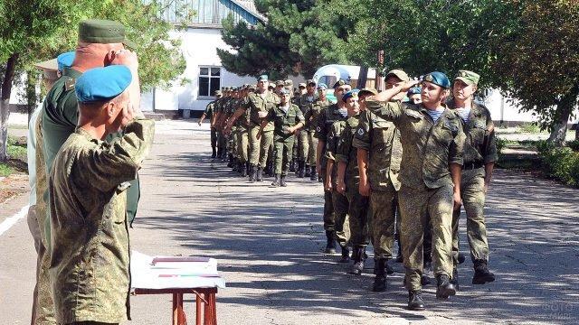Строй десантников в военной части Приднестровья