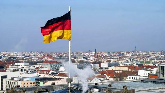 Панорама Берлина с крыши Рейхстага