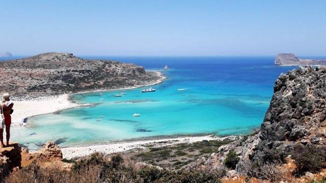 Пляж Балос на побережье острова Крит