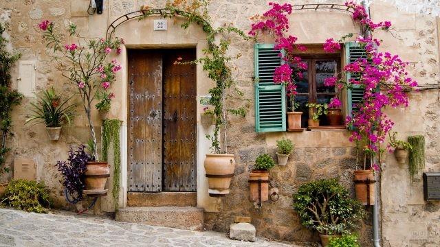 Дверь и окно в старинном доме