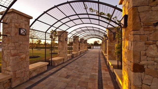 Прованская архитектура пешеходной зоны