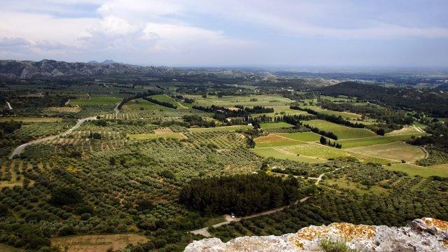 Сельский пейзаж в Ле-Бо-де-Прованс