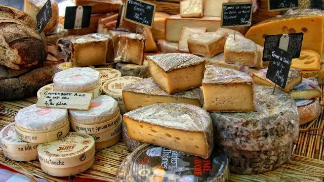 Сыры на рынке столицы Прованса