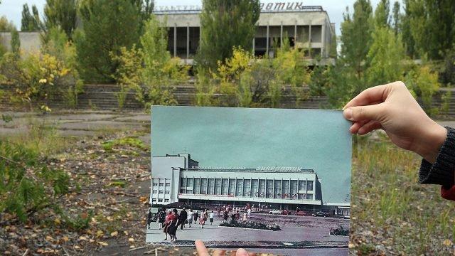 Чернобыльская зона отчуждения - 30 лет до и после аварии