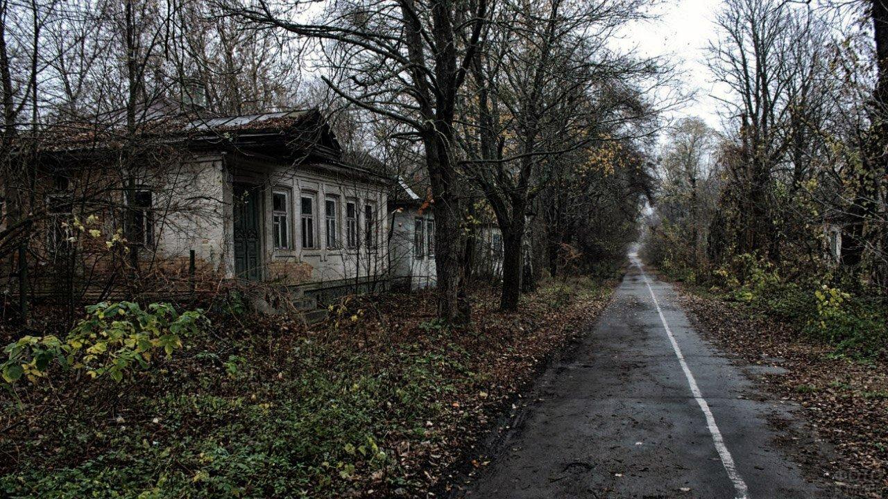 Место паломничества сталкеров - заброшенное село в ЧЗО