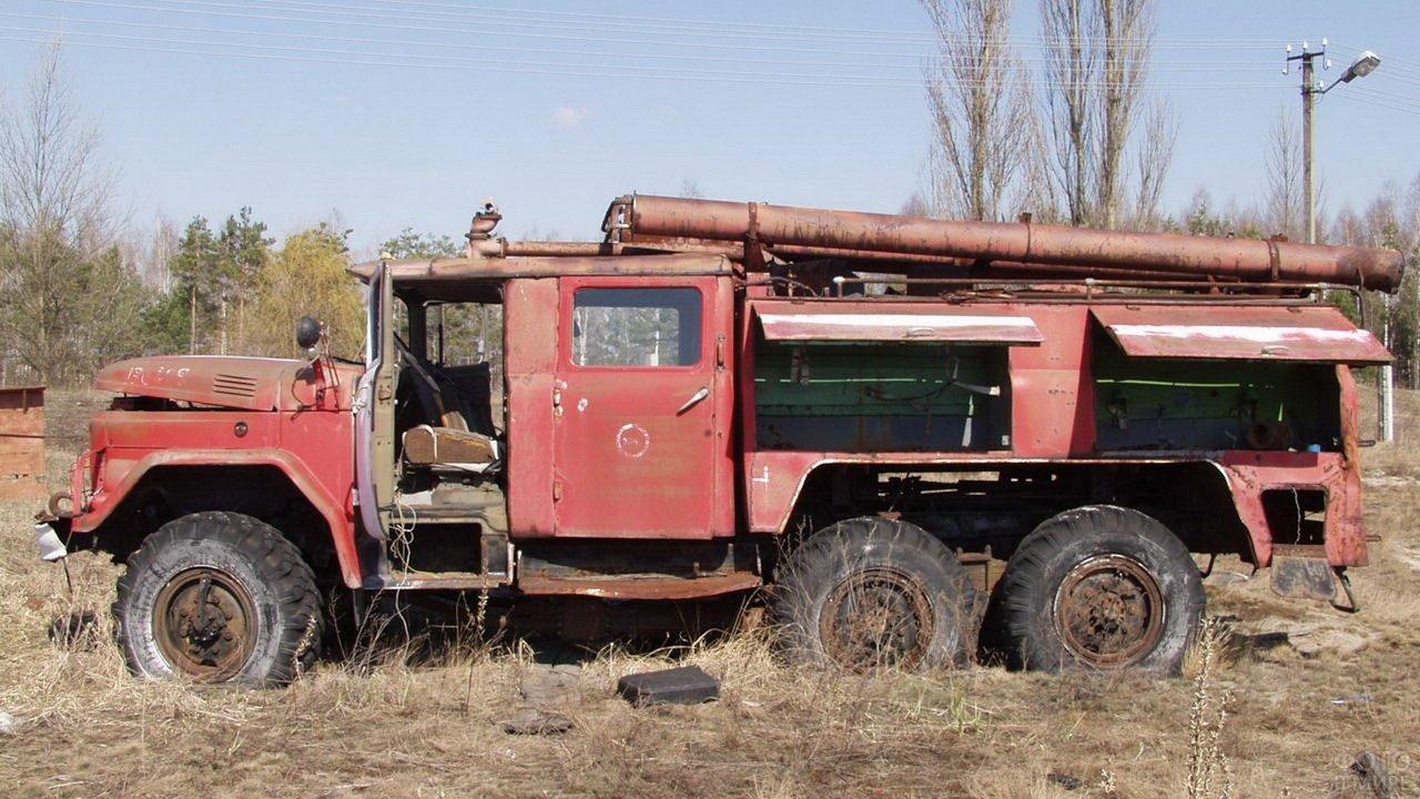 Пожарный ЗИЛ ликвидаторов аварии на ЧАЭС