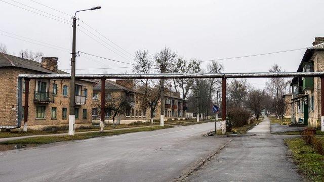 Улица Чернобыля в наши дни