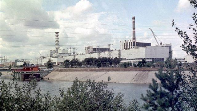 Архивное фото станции в Припяти до аварии