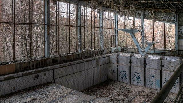 Заброшенный бассейн в Припяти - прототип одной из локаций компьютерной игры