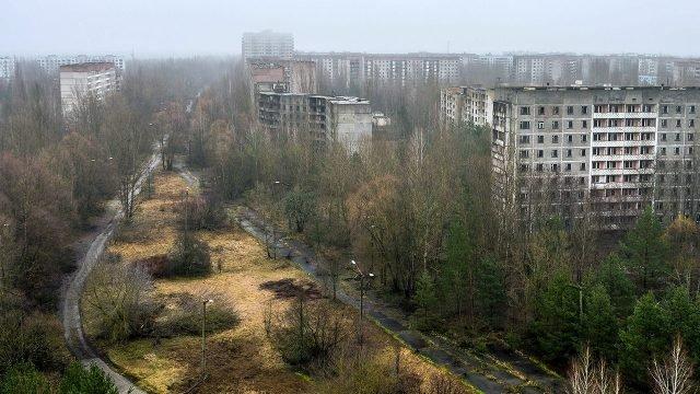 Заросли посреди города-призрака Припять