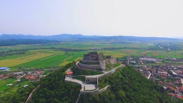 Панорамный вид на крепость Дева сверху