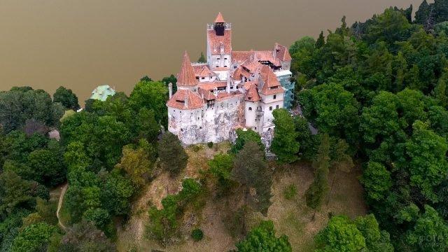 Замок Бран вид сверху