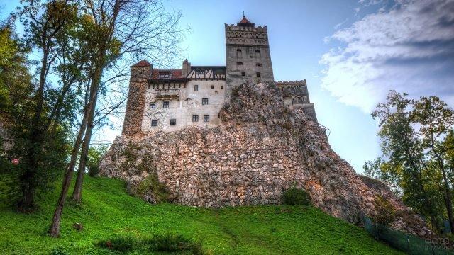 Замок Цепеша вид с подножья