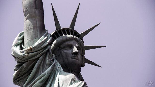 Суровое лицо Статуи Свободы