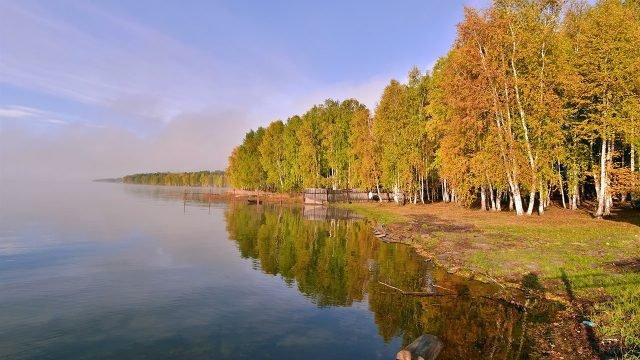 Осенний лес на берегу Байкала