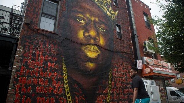 Граффити на одном из домов Бруклина