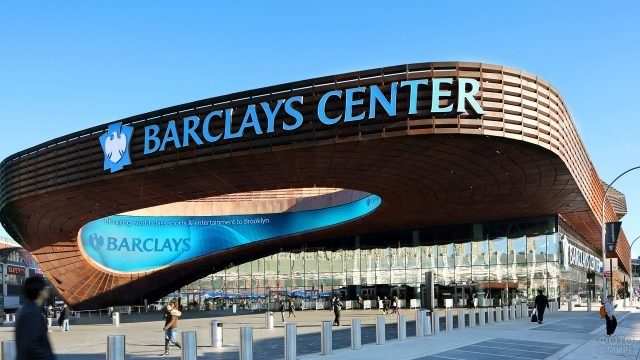 Необычная архитектура Барклэйс центра в Бруклине