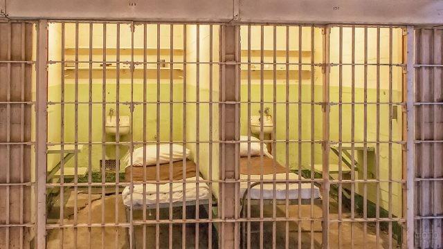 Одиночные камеры в тюрьме Алькатрас
