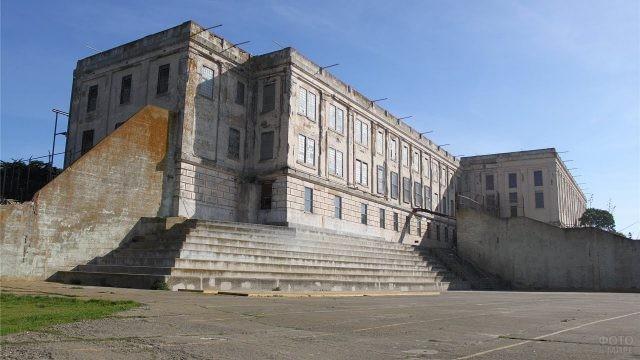 Тюрьма Алькатрас на остраве