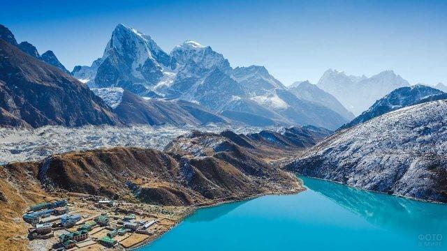 Озеро Гокио на фоне гор