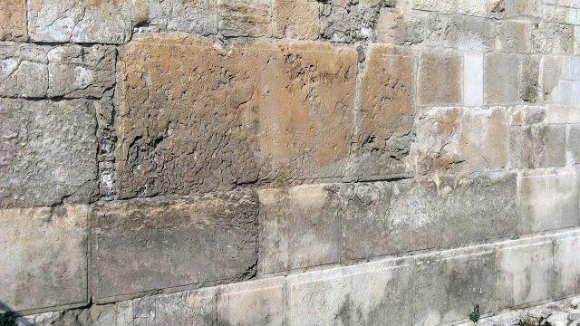Кладка мегалита - Стены Плача