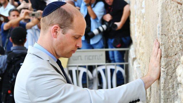 Принц Уильям у стены плача в Израиле