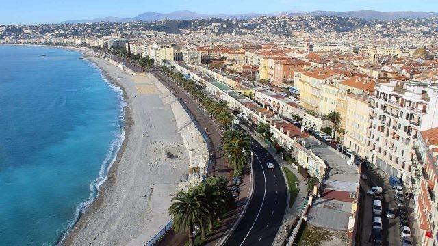 Панорама Английской набережной в Ницце