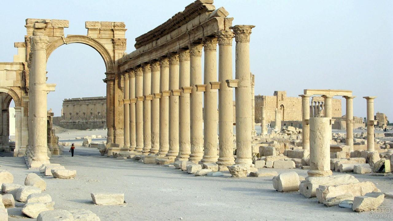 Античные памятники архитектуры в Пальмире
