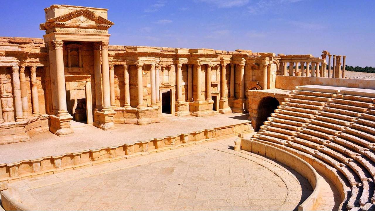 Руины амфитеатра в Пальмире