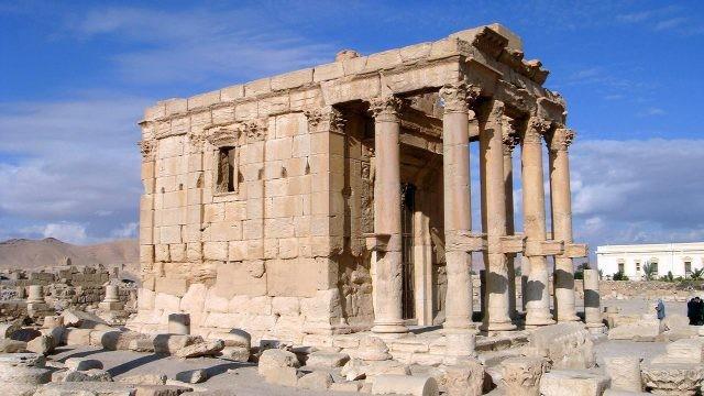 Руины храма Баалшамина в Пальмире