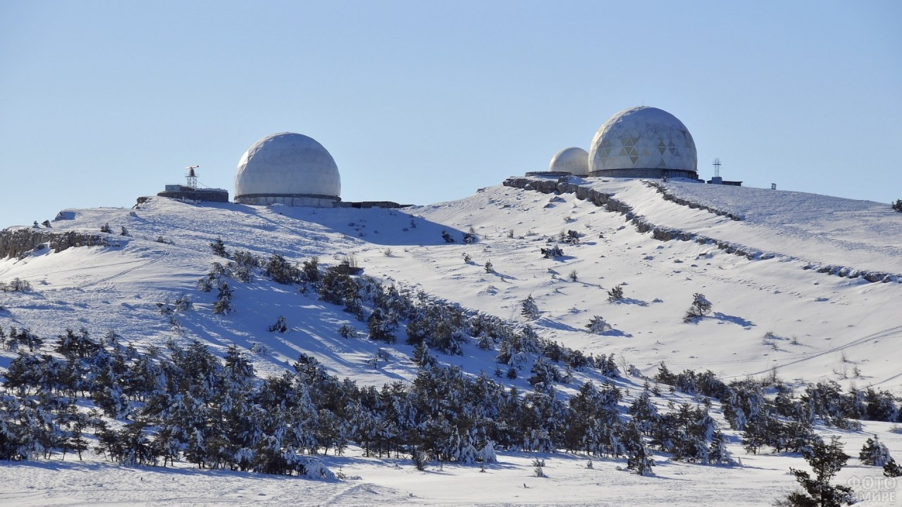 Метеорологическая станция, находящаяся вблизи горы Ай-Петри