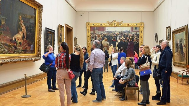 Экскурсия в залах Репина Третьяковской галереи