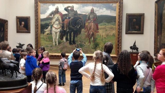 Младшеклассники в Третьяковской галерее