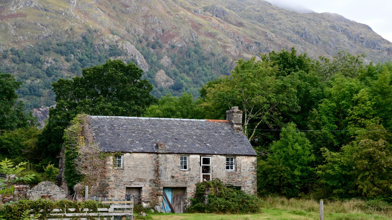 Заброшенный дом в Шотландии
