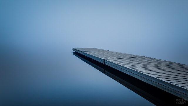 Пристань и густой туман