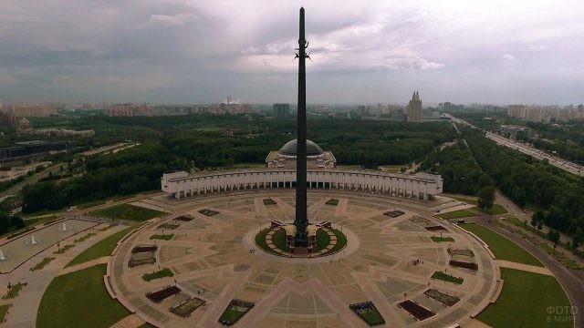 Аэросъёмка Парка Победы на Поклонной горе