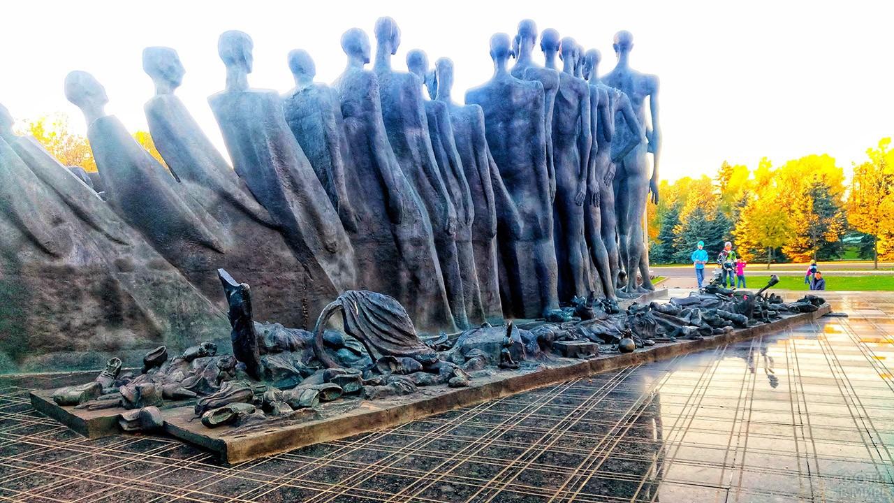 Фрагмент мемориала Трагедия народов на Поклонной горе