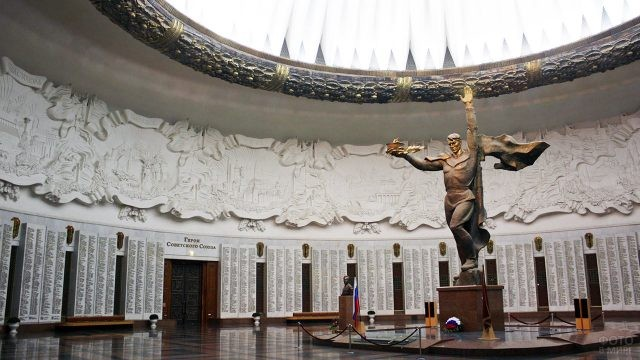 Зал Славы в Центральном музее ВОВ на Поклонной горе