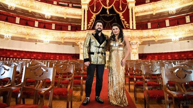Знаменитые оперные певцы в зале Большого театра