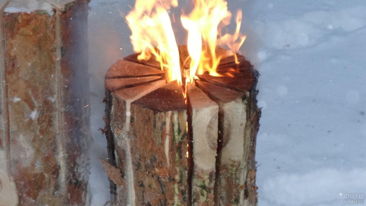 Костёр финская свеча