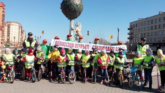 В Петербурге отмечают День космонавтики детским велопробегом