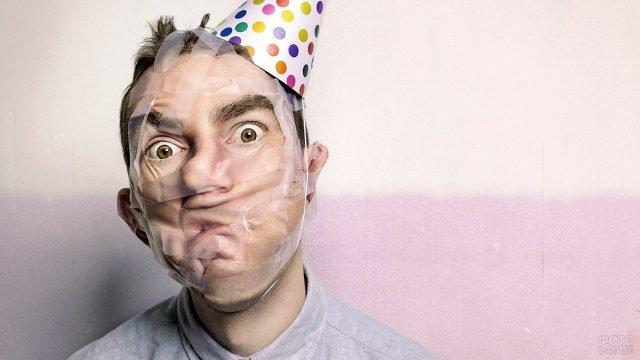 Дурацкое фото к 1 апреля со скотчем на лице