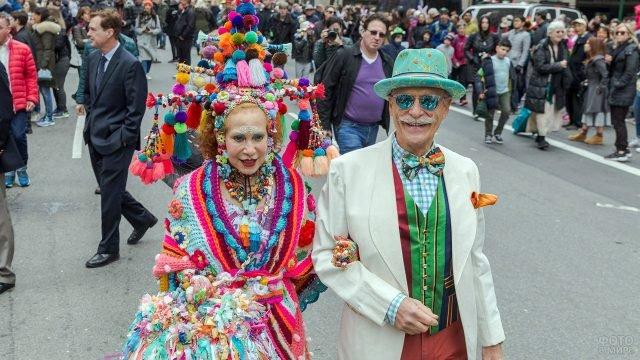 Участники первоапрельского парада ряженых в Нью-Йорке
