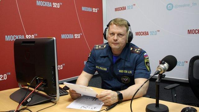 Представитель МЧС на московской радиостанции в День Радио