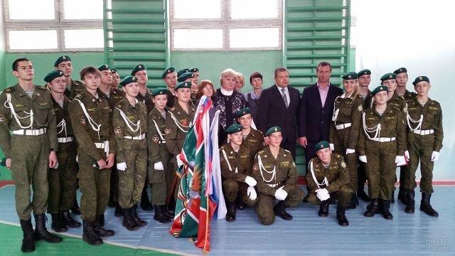 Кадеты-пограничники института ФСБ в Калуге