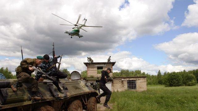 Учения спецназа пограничных войск ФСБ России