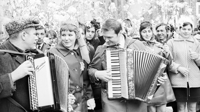 Архивное фото советских демонстрантов 1 мая