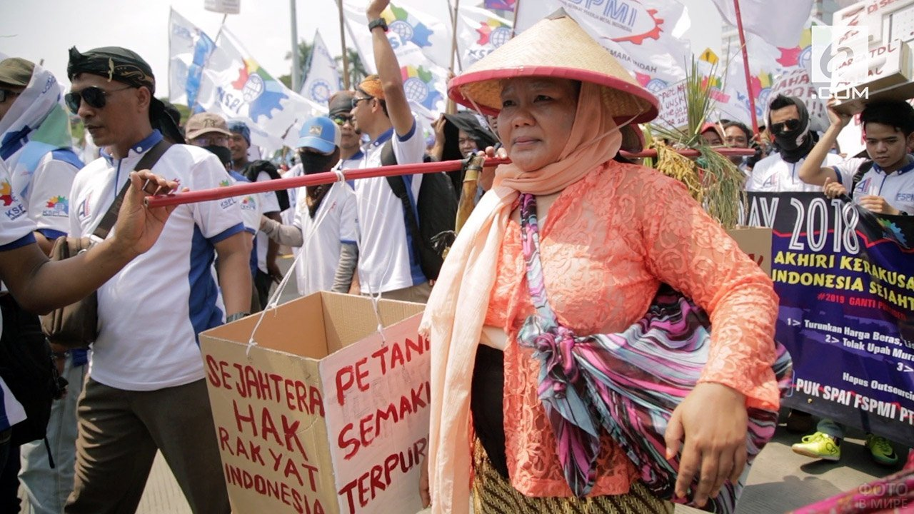 Демонстрация Мэй Дэй в Индонезии