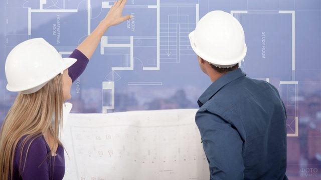 Архитектор поясняет коллеге суть проекта